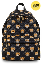 Moschino Bear Print Quilted Backpack