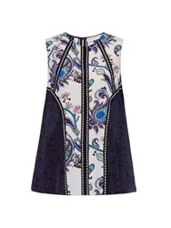 Mary Katrantzou Evina Printed Silk Top