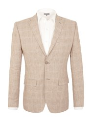 Alexandre Of England South Grove Linen Tailored Jacket Brown