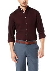 Dockers Portuguese Flannel Shirt Pinot Red Heather