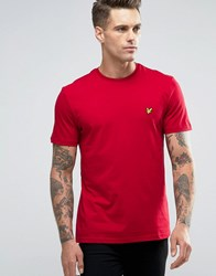 Lyle And Scott T Shirt Eagle Logo In Red Ruby