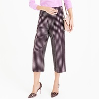J.Crew Collection Cropped Wide Leg Trouser In Check Jacquard