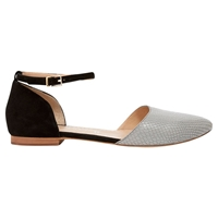 Mint Velvet Cece Leather Sandals Grey Black