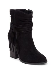 Jessica Simpson Sesley Suede Tassel Accent Boots Black