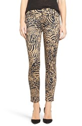 7 For All Mankindr Women's Mankind Leopard Print Ankle Skinny Jeans
