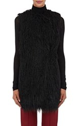 Theory Women's Nyma V Faux Fur Vest Black