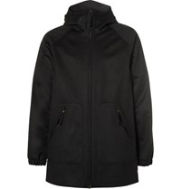 Aspesi Apei Wool Hooded Coat Black