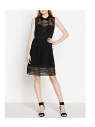 Karen Millen Broderie Shirtdress Black