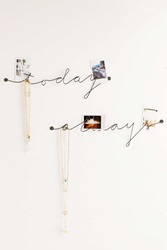 Plum And Bow Wire Text Wall Art Today