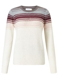 John Lewis Collection Weekend By Ombre Jumper Cream Pink Grey