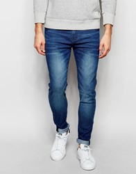 New Look Super Skinny Jeans In Mid Wash Blue