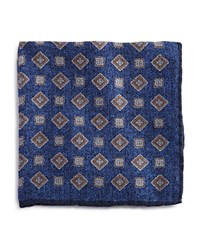 Bloomingdale's The Men's Store At Diamond Medallion Pocket Square Navy