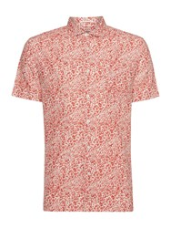 Howick Tuscon Short Sleeve Printed Shirt Red