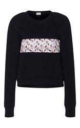 Cg Raglan Sleeve Sweatshirt Black