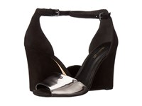 Nine West Roree Black Pewter Suede Women's Wedge Shoes