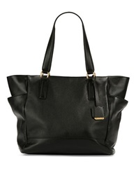 Kenneth Cole Nevins Textured Leather Tote Black