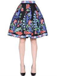 Andrew Gn Floral Jacquard And Fil Coupe Skirt
