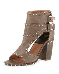 Deric Studded Two Buckle Sandal Gray Silver Laurence Dacade
