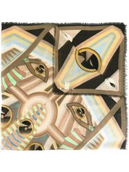 Givenchy Rosace Eyes Printed Scarf Multicolour