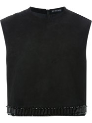 Wan Hung Cheung Cropped Vest Black