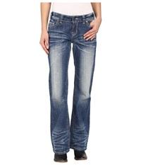 Rock And Roll Cowgirl Riding Bootcut In Medium Vintage W7 6438 Medium Vintage Women's Jeans Blue