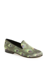 Cb Made In Italy 'Peacock' Slip On Green