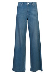French Connection Cushie Vintage Wide Leg Jeans Light Blue