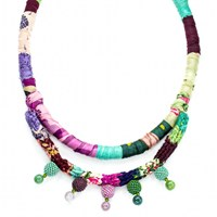 The Studioelle Colorburst Pastel Spike Necklace Silver