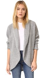 Bb Dakota Rhonchesta Knit Cocoon Jacket Medium Heather Grey