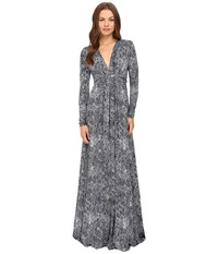 Rachel Pally Long Sleeve Full Length Caftan Dress Nightfall Kinetic Women's Dress Gray