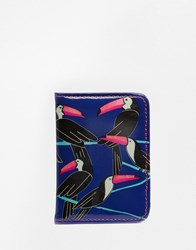 Paperchase Toucan Ticket Holder Multi Black