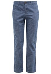 Gap Trousers Blue Blue Grey