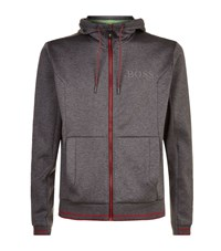 Hugo Boss Green Saggy Zip Up Hoodie Male Grey