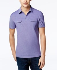 Alfani Black Men's Big And Tall Angelo Two Tone Polo Only At Macy's