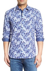 Men's Bugatchi Classic Fit Shattered Flower Print Sport Shirt