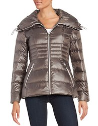Karl Lagerfeld Fitted Puffer Jacket Grey