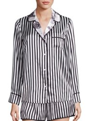 Alice Olivia Robbyn Striped Pajama Top