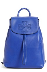 Tory Burch 'Harper' Leather Backpack Blue Macaw