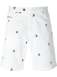 Philipp Plein 'Work Out' Chino Shorts White