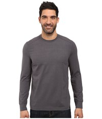 Prana Decco Crew Charcoal Men's Long Sleeve Pullover Gray