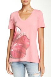 Tommy Bahama Painted Hibiscus Tee Pink
