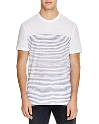 The Men's Store At Bloomingdale's Semi Stripe Tee White Navy