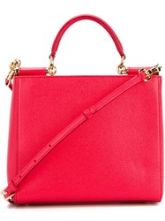 Dolce And Gabbana Mini 'Miss Sicily' Tote Pink And Purple