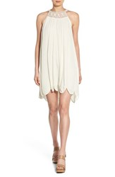 Women's Ella Moss 'Kemba' Crochet Halter Swing Dress Natural