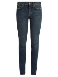 Saint Laurent Mid Rise Skinny Jeans Denim