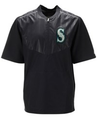 Majestic Men's Short Sleeve Seattle Mariners Authentic Collection Training Jacket Navy