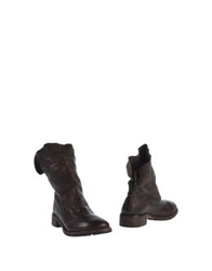 Nylo Ankle Boots Dark Brown