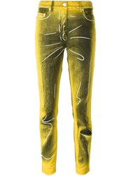 Moschino Trompe L'oeil Jeans Yellow And Orange