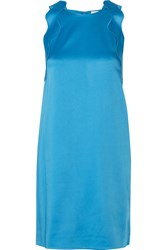 3.1 Phillip Lim Scalloped Satin Crepe Mini Dress Blue