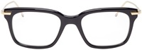 Thom Browne Navy And Gold Square Optical Glasses
